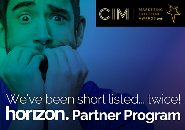 We've been short listed...twice! horizon. Partner Program